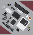 flat design graphic designer workplace concept vector image