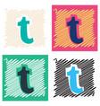 Flat tumblr social media icons