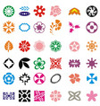 flower set colorful icon images vector image vector image
