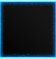 frames with blue sequins vector image vector image