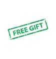 free gift stamp texture rubber cliche imprint web vector image vector image