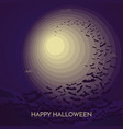 haunted happy halloween banner with bats vector image vector image
