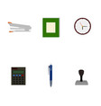 isolated business tools flat icon vector image vector image