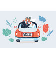 just married couple on white vector image vector image
