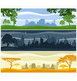 landscapes with urban buildings vector image vector image