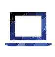 laptop icon Abstract Triangle vector image vector image