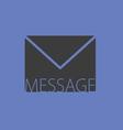 letter envelope message vector image vector image