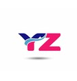 Letter y and z logo vector image vector image