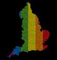 lgbt pixel england map vector image