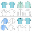 mans shirt set vector image