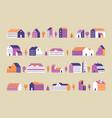 minimalism town buildings geometric minimal vector image