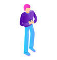 modern man icon isometric style vector image vector image