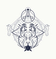 mystical occult symbol vector image vector image