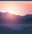 nature mountains landscape sunset or dawn sun vector image