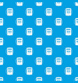 notebook pattern seamless blue vector image vector image