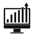 online report graph icon simple style vector image vector image