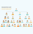 organizational chart corporate business hierarchy vector image vector image