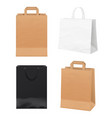 paper bags empty store packages white black and vector image vector image