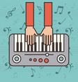 Piano instrument icon vector image
