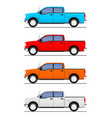 pick up truck vector image vector image