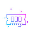 ram icon design vector image vector image