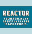 reactor retro display font popart design alphabet vector image vector image