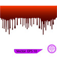 red dripping paint melting drip background vector image vector image