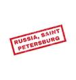 Russia Saint Petersburg Rubber Stamp vector image vector image