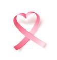 satin pink ribbon realistic medical symbol for vector image vector image