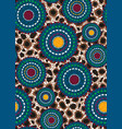 seamless african wax print fabric ethnic handmade vector image vector image