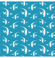 Seamless pattern with pennant fish fish pattern vector image