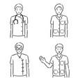 set medical staff vector image