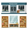 Set of detailed flat design bookstore vector image vector image