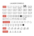 Set of line simple washing instruction symbols vector image