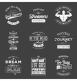 Set of vintage motivation typographic quotes vector image vector image