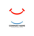 set smile icon logo template design vector image vector image
