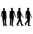 silhouettes of walking people vector image vector image