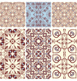 six seamless patterns vector image vector image