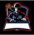 soldier esport logo vector image