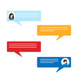 speech icon set chat symbol dialogue chatting vector image