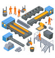 steel industry isometric set vector image vector image