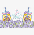 summer lemonades on mason jars vector image vector image
