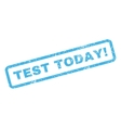 Test Today Rubber Stamp vector image vector image