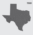 texas counties map vector image vector image
