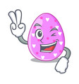 two finger cartoon shape easter color on eggs vector image
