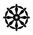 wheel of samsara symbol of reincarnation the vector image