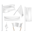 White flags pictograms collection vector image vector image
