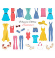 women clothes collection sketch vector image vector image