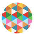 colored geometric circle vector image