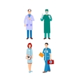 Doctor character isolated vector image